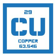 Copper chemical element Stock Illustration