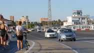 Winston Churchill Avenue, Gibraltar Stock Footage