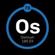 Osmium chemical element Stock Illustration