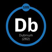 Dubnium chemical element Stock Illustration