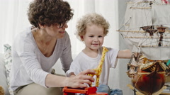 Happy Mother and Toddler Playing Together Arkistovideo