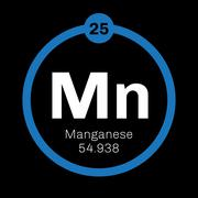 Manganese chemical element Stock Illustration