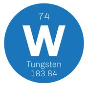 Tungsten chemical element Stock Illustration