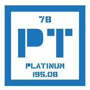 Platinum chemical element Stock Illustration