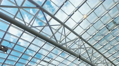 Metal structures on the roof Stock Footage