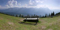 The Alps Germany Garmisch Partenkirchen Mount Wank mountain Stock Photos