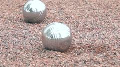 Boule ball landing in slow motion Stock Footage