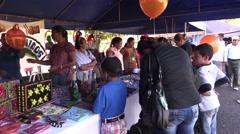 Panamanian families enjoying a local fair Stock Footage