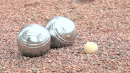 Boule ball landing in slow motion Stock Footage