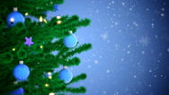 New Year tree with falling snowflakes Stock Footage
