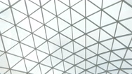 Glass roof of a modern building Stock Footage