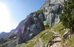 The Alps Garmisch Partenkirchen Alpspitze Osterfelderkopf mountain Stock Photos
