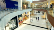 Buyers and people in a shopping mall Stock Footage