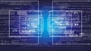 Data - Economy - Cyberspace - Digital Numbers Zoom - blue Stock Footage
