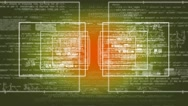 Data - Economy - Cyberspace - Digital Numbers Zoom - yellow Stock Footage