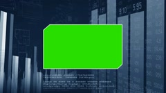 Green Center - Blueprint Background -chart - numbers in grid - dark blue Stock Footage
