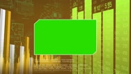 Green Center - Blueprint Background -chart - numbers in grid - yellow Stock Footage