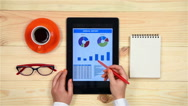 Business Report On Tablet Stock Footage