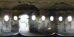 360VR video, Inside watch tower of Castle Bentheim Stock Footage