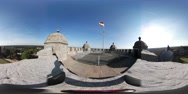 360VR video View from wall of Castle Bentheim Stock Footage