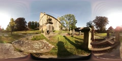 360VR video of Evangelical Reformed church in Bad Bentheim Stock Footage