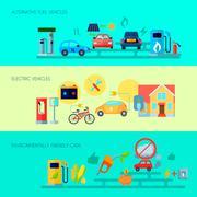 Alternative Energy Banners Set Stock Illustration
