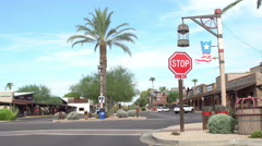 Old Town Scottsdale shopping area Stock Footage