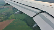 Green landscape aircraft view Stock Footage
