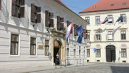 Ban's Court  in Zagreb Stock Footage