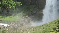 Krimml Waterfalls in Pinzgau, Salzburger Land at Austria. European Alps Stock Footage