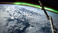 Aerial shot of planet earth in space from ISS. Time lapse 4k. NASA Stock Footage