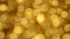 Defocused Glitter Particle Lights Stock Footage