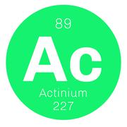 Actinium chemical element Stock Illustration