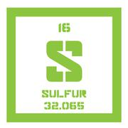 Sulfur chemical element Stock Illustration