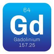 Gadolinium chemical element Stock Illustration