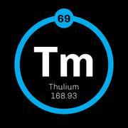 Thulium chemical element Stock Illustration