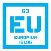 Europium chemical element Stock Illustration