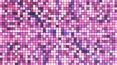 Broadcast Twinkling Hi-Tech Cubes, Pink, Abstract, Loopable, 4K Stock Footage