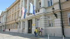 The parliament of Croatia in Zagreb Stock Footage