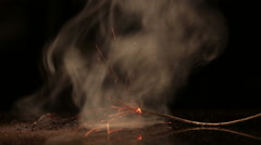 Chemical fuse. Self-heating the mixture ignites the fuse. Stock Footage