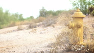 Yellow fire hydrant Stock Footage