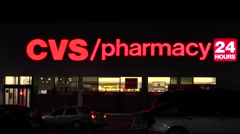 4K CVS Pharmacy retail storefront Stock Footage