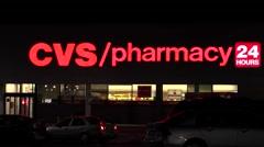 4K CVS Pharmacy retail storefront Stock Footage