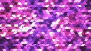 Broadcast Twinkling Squared Hi-Tech Triangles, Pink, Abstract, Loopable, 4K Stock Footage