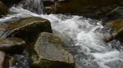 Mountain swift stream Stock Footage