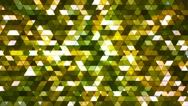 Broadcast Twinkling Squared Hi-Tech Triangles, Green, Abstract, Loopable, 4K Stock Footage