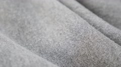 Gray sweat shirt or pants fine fabric texture close-up 4K 2160p 30fps UltraHD Stock Footage
