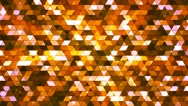 Broadcast Twinkling Squared Hi-Tech Triangles, Orange, Abstract, Loopable, 4K Stock Footage