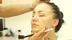 Indian makeup process beautiful girl Stock Footage