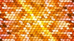 Broadcast Twinkling Cubic Hi-Tech Triangles, Orange, Abstract, Loopable, 4K Stock Footage